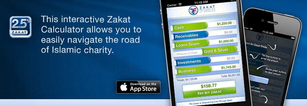 Zakat Foundation of America - Zakat Calculator App