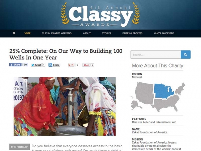 Zakat Foundation of America - Zakat Foundation of America is Top Finalist for 4th Annual Classy Awards
