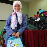 Zakat Foundation of America - Backpacks Delight Jordanian and Syrian Children