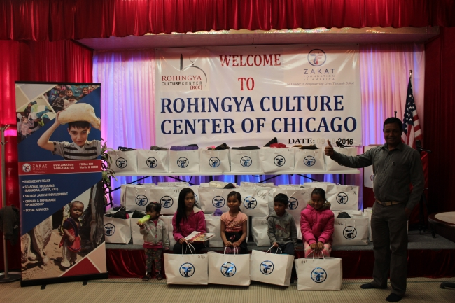 Zakat Foundation of America - ZF Distributes Winter Kits to Rohingya Cultural Center