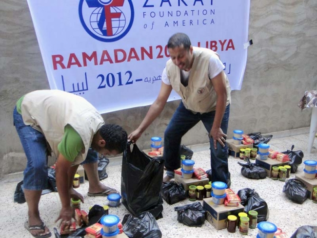 Zakat Foundation of America - ZF's Feeds Displaced in Libya