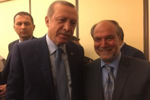arabic.zakat.org - السيدان الرئيس التركي وخليل دمير في الجمعية العامة للأمم المتحدة في عام 2016