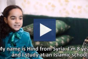 Zakat Foundation of America - Meet Hind, an 8-year-old Syrian refugee